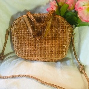 Vintage Genuine Woven Leather Purse by Talbot's
